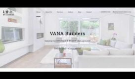 Vana Builders, Home remodeling company website designed by Rooyesh academy
